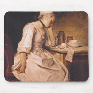 Young Woman Sleeping Mouse Mat