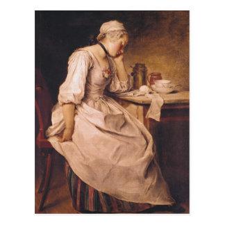 Young Woman Sleeping Postcard