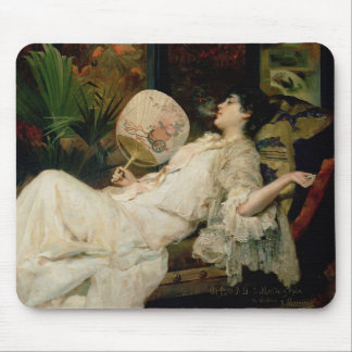 Young Woman Smoking, 1894 Mouse Pad