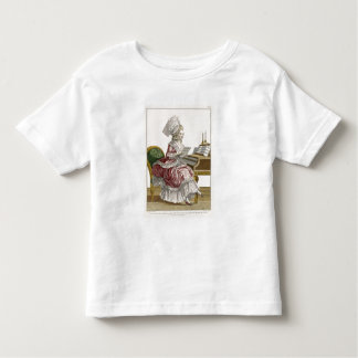 Young Woman Studying Music at her Harpsichord, pla Toddler T-Shirt