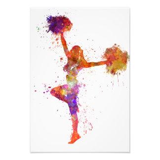 Young woman to cheerleader 06 photo art