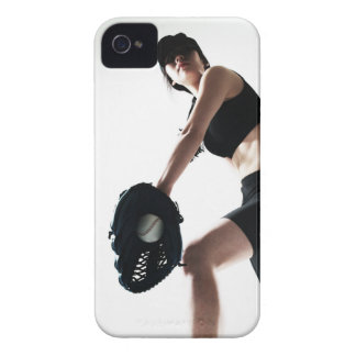 young woman training,baseball iPhone 4 Case-Mate case