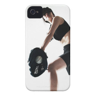 young woman training,baseball iPhone 4 cases