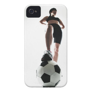 young woman training,football iPhone 4 Case-Mate case