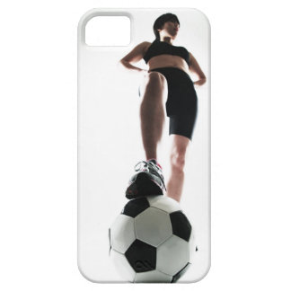 young woman training,football iPhone 5 cover