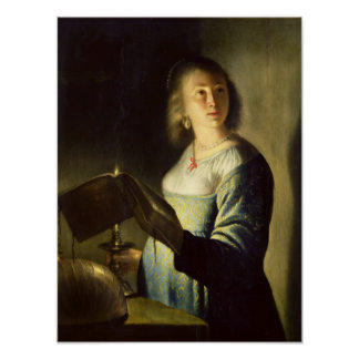Young Woman with a Candle Poster