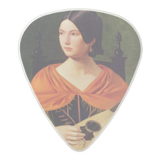 Young Woman with a Mandolin, 1845-47 Acetal Guitar Pick