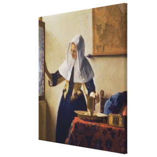Young Woman with a Water Jug, c.1662 Canvas Print