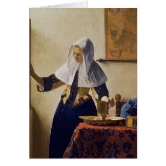 Young Woman with a Water Jug, c.1662 Card