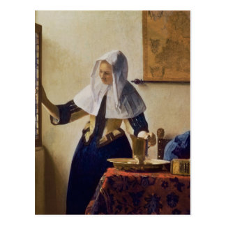 Young Woman with a Water Jug, c.1662 Postcard