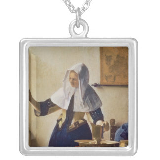 Young Woman with a Water Jug, c.1662 Silver Plated Necklace