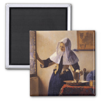 Young Woman with a Water Pitcher Square Magnet