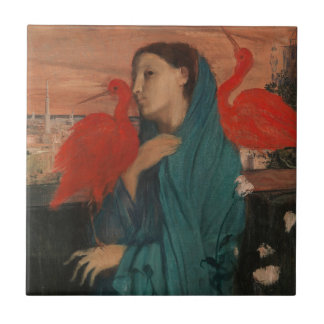 Young Woman with Ibis Tile