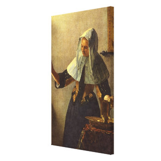 Young Woman with Water Pitcher - Johannes Vermeer Canvas Prints