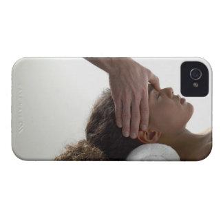 Young women enjoying a massage iPhone 4 Case-Mate case