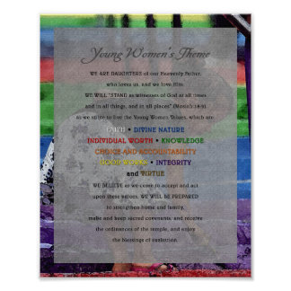 Young Women Theme Painting Series Document Posters