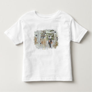 Young women with a basket of chrysanthemums toddler T-Shirt
