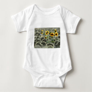 Young Yellow Sunflowers Baby Bodysuit
