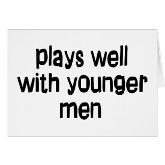 Younger men greeting card