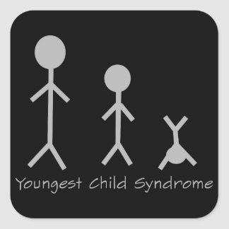 Youngest child syndrome funny stickers