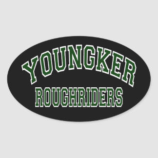 Youngker Roughriders Oval Sticker