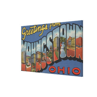 Youngstown, Ohio - Large Letter Scenes Canvas Print