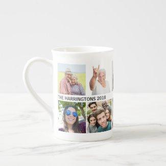 YOUR 10 Photos & Text bone china mug