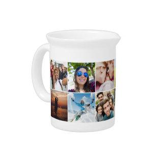 YOUR 12 Instagram Photos custom pitcher
