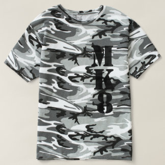 Your 3 letter Monogram on Camouflage Decor T Shirt