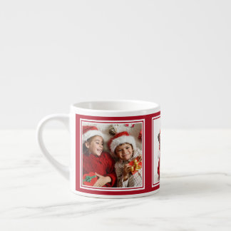YOUR 3 PHOTOS custom espresso mug
