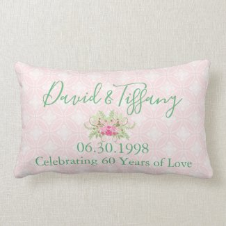 Your 60th Wedding Anniversary Lumbar Cushion