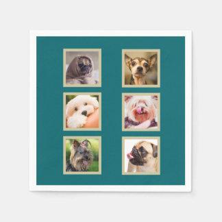 YOUR 6 PHOTOS / Cute Dogs custom paper napkins Disposable Serviette