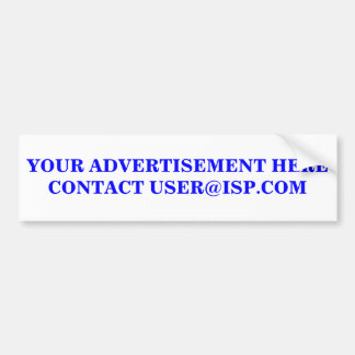 YOUR ADVERTISEMENT HERE STICKER