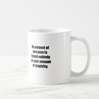 Your Amount Of Stupidity Mugs