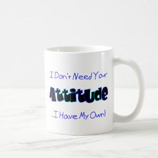 Your Attitude Blue Mug