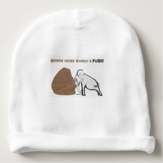 your baby is smiling when wearing this slogan baby beanie