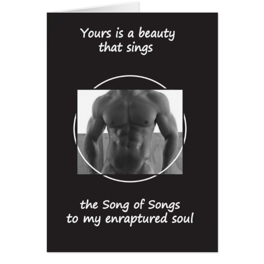 Your Beauty Sings (Blank Inside) Card