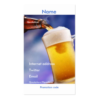 Your beer promotional card pack of standard business cards