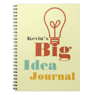 Your big idea journal modern light bulb ecru