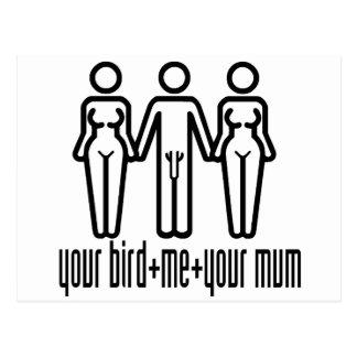 Your Bird, Me, Your Mum Postcard