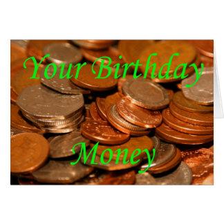 Your Birthday money Coin Card