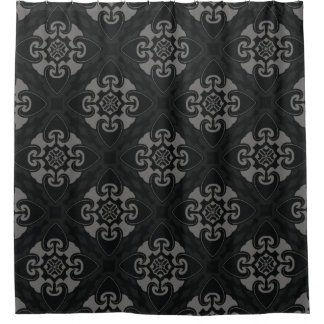 Your Black Heart Tribal Shower Curtain