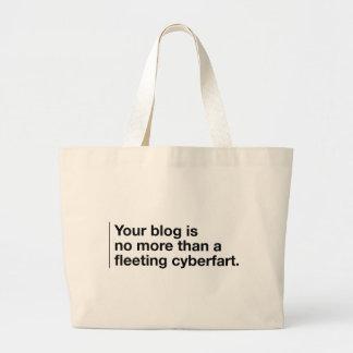 Your Blog is a Cyberfart Jumbo Tote Bag