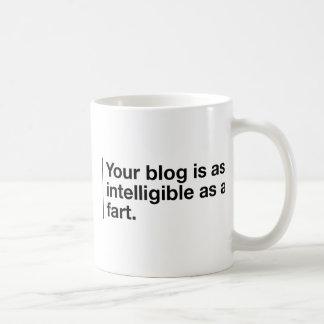 Your blog is as intelligible as... basic white mug