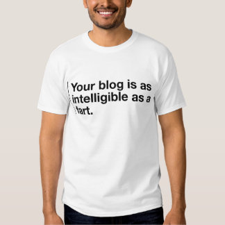 Your blog is as intelligible as... tee shirts