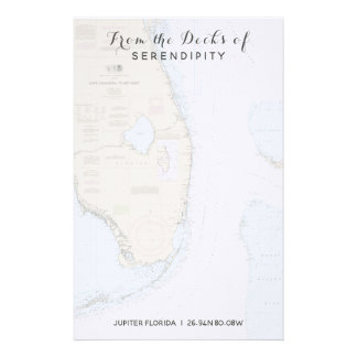 Your Boat Name From the Decks of Florida Nautical Stationery
