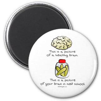 Your brain in Med School 6 Cm Round Magnet