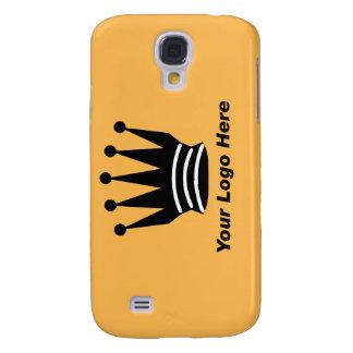 Your business brand logo custom orange i galaxy s4 case