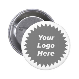 Your business logo here promo 6 cm round badge