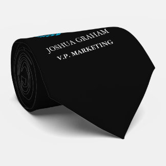 Your Business Logo   Job Title Custom Black Tie
